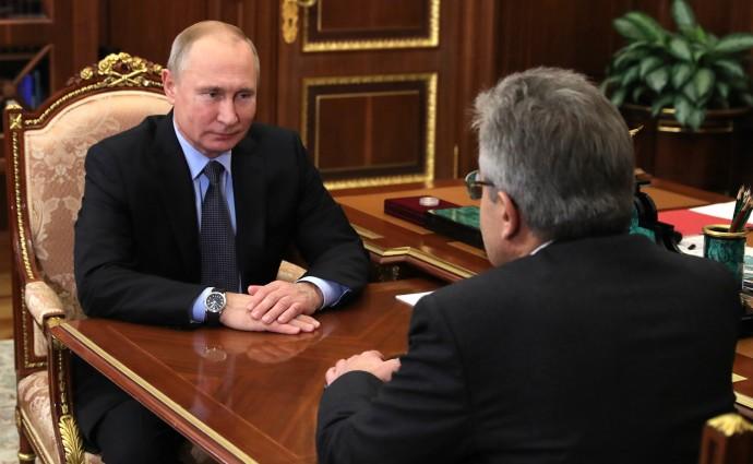 Александр Сергеев рассказывает Путину о новых полномочиях