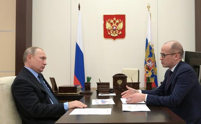 Бречалов рассказывает Путину о состоянии региона