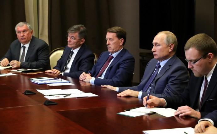 Российская сторона на встрече с Премьер-министром Монголии