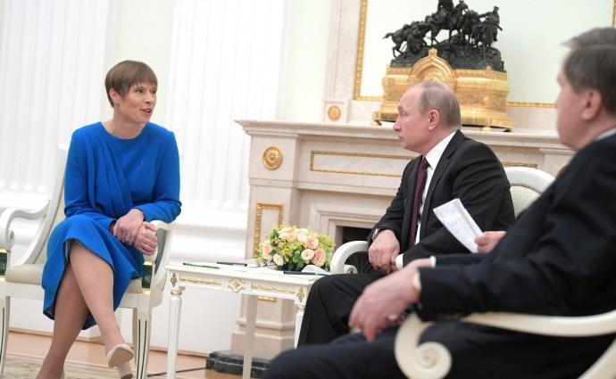Владимир Путин и Керсти Кальюлайд