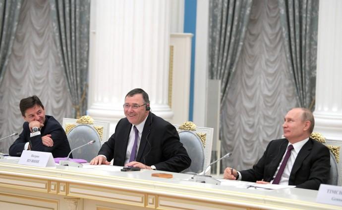 Президент РФ, директор компании «Тоталь», Патрик Пуянне