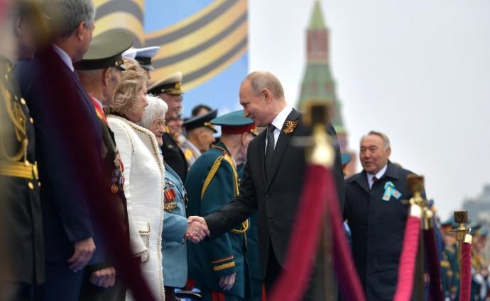 Президент приветствует ветеранов Великой Отечественной войны
