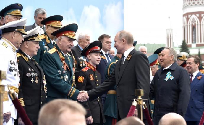 Перед началом Парада Победы. С ветеранами Великой Отечественной войны