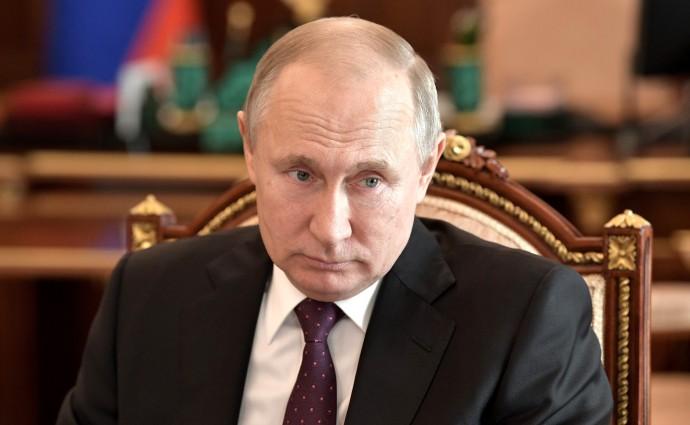 Владимир Путин крупным планом