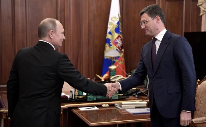 Рукопожатие Путина и Новака