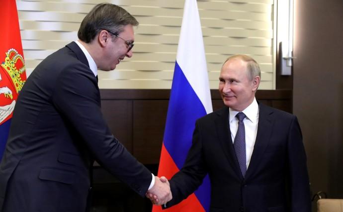 Приветствие Президента России и Сербии