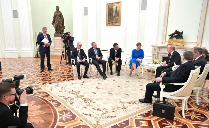 На встрече с Президентом Эстонской Республики Керсти Кальюлайд