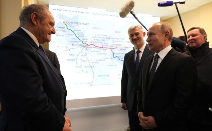 Путин и Тибо де Сильги