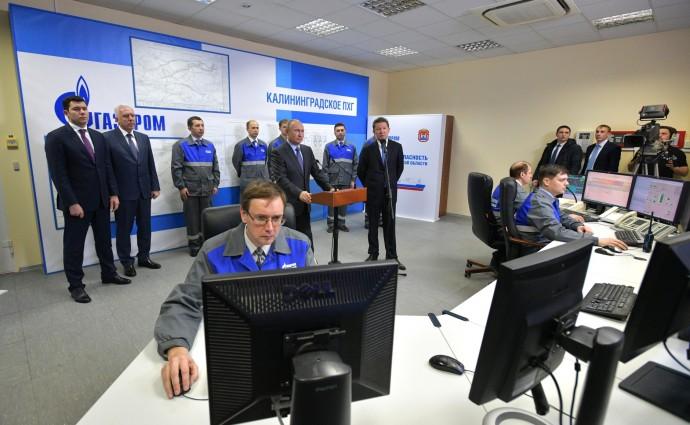 Владимир Путин и Алексей Миллер в диспетчерской