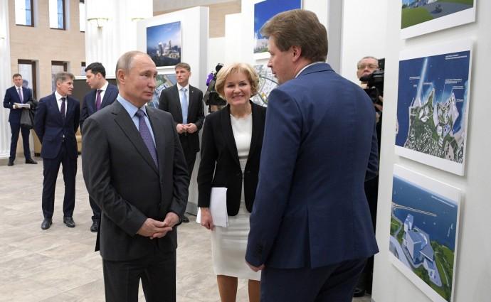 Путин с Ольгой Голодец и Дмитрием Овсянниковым
