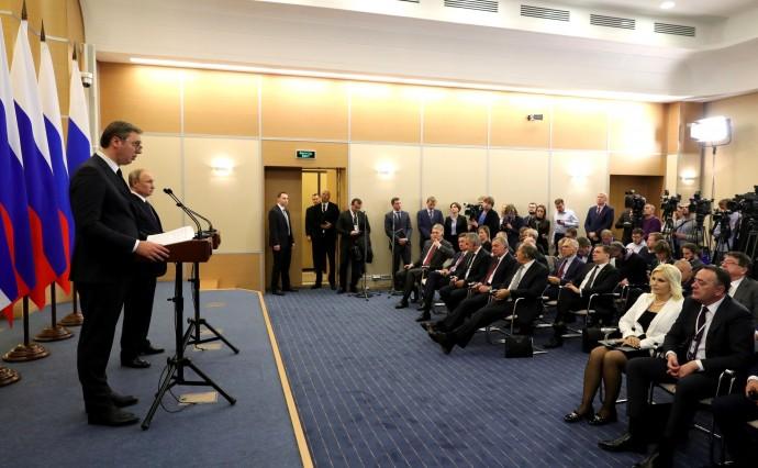 Пресс-конференция по итогам российско-сербских переговоров