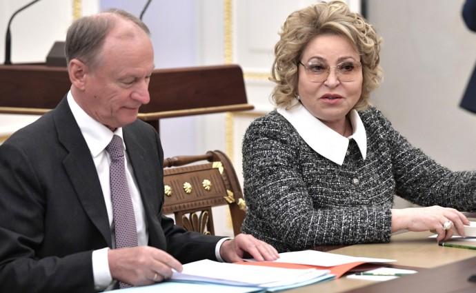 Николай Патрушев и Валентина Матвиенко