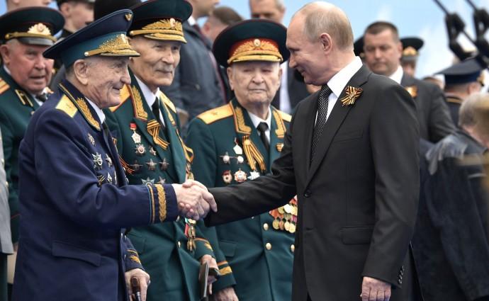 Президент РФ с ветеранами Великой Отечественной войны