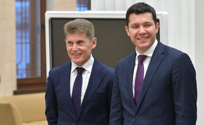 Олег Кожемяко (слева) и Антон Алиханов