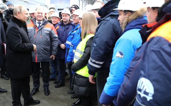 Со строителями автомобильной дороги М11 «Москва – Санкт-Петербург»