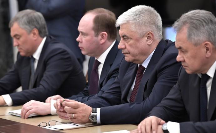 Вячеслав Володин, Антон Вайно, Владимир Колокольцев и Сергей Шойгу