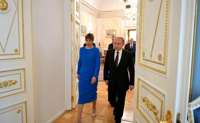 По завершении встречи с Президентом Эстонской Республики Керсти Кальюлайд
