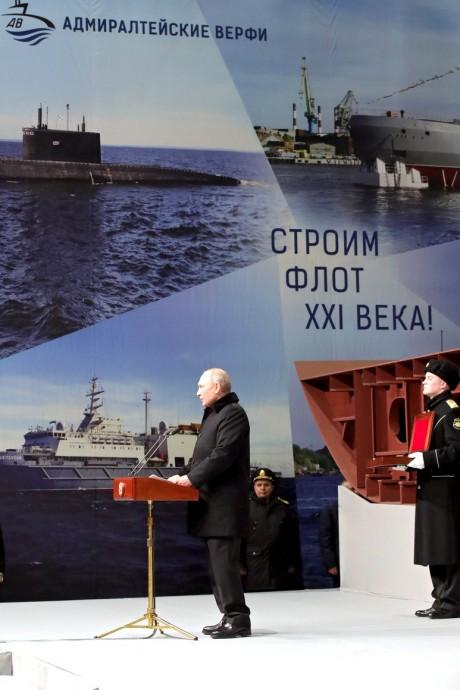 Церемония закладки патрульного корабля ледового класса «Николай Зубов»