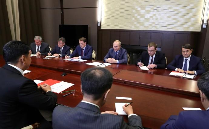 Встреча с Премьер-министром Монголии Ухнаагийн Хурэлсухом