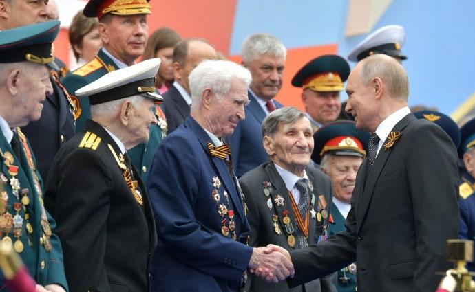 Путин с ветеранами Великой Отечественной войны