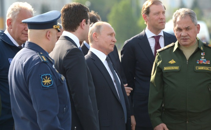 Президент на Казанском авиационном заводе имени С.П.Горбунова