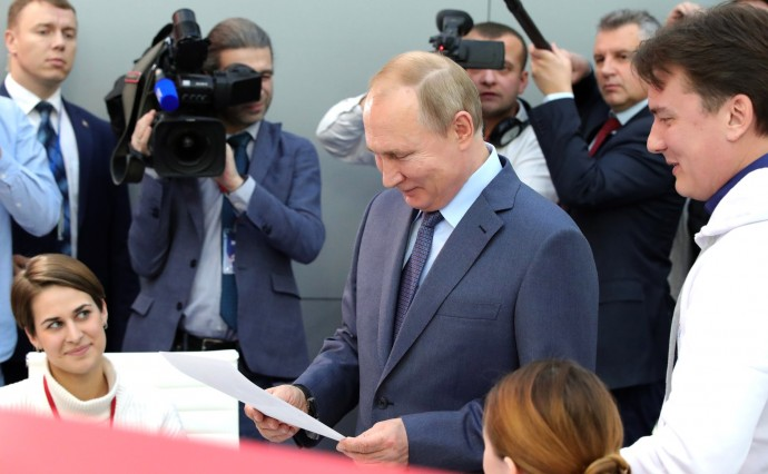 Владимир Путин посетил площадку Общероссийского народного фронта
