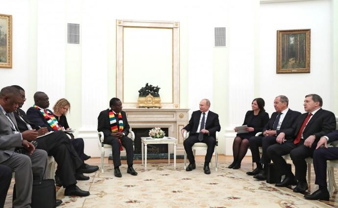 Президент России и Президент Республики Зимбабве