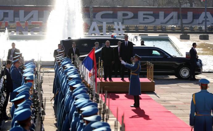 Официальная часть церемонии встречи Президента России