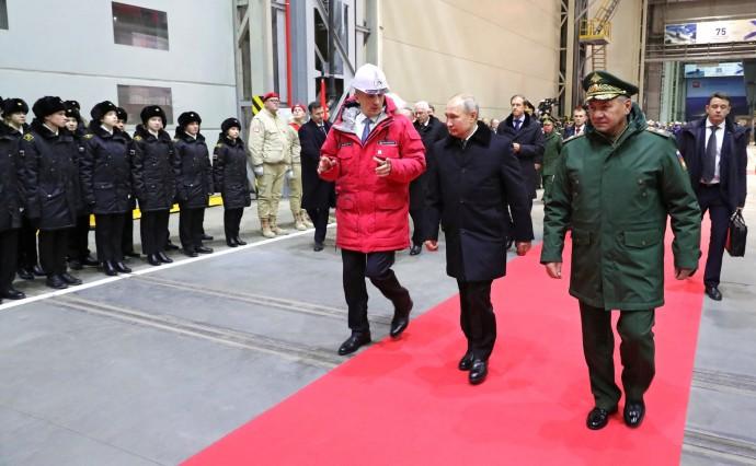 По окончании церемонии закладки патрульного корабля ледового класса «Николай Зубов»