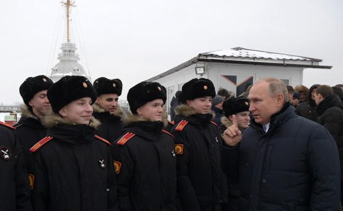 Пожелания Путина мальчишкам Суворовского военного училища