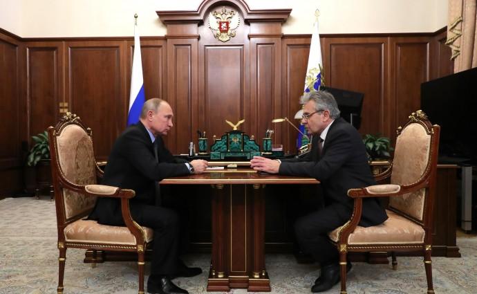 Рабочая встреча Путина и Александра Сергеева