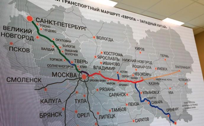 Карта автомобильной дороги М11 «Москва – Санкт-Петербург»