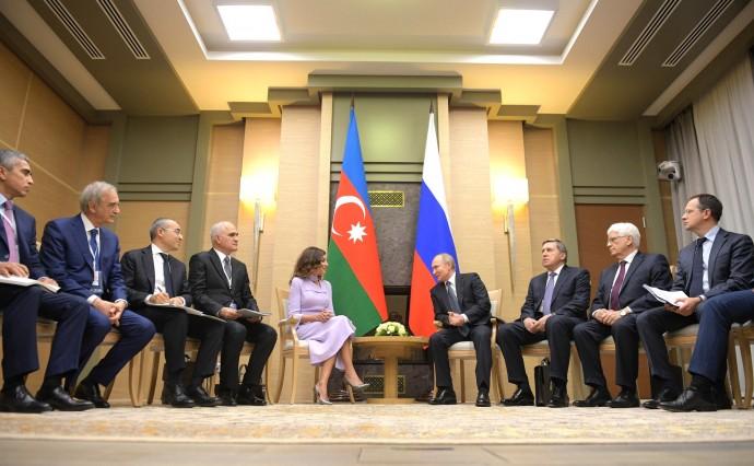 Встреча главы государства с Первым вице-президентом Азербайджана