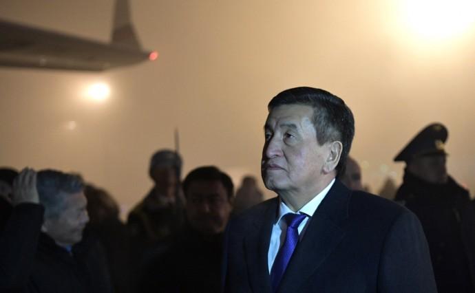 Сооронбай Жээнбеков встречает Владимира Путина