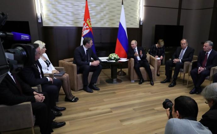 Российско-сербские переговоры в узком составе