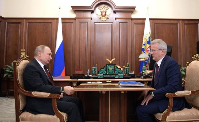 Владимир Путин и Иван Белозерцев