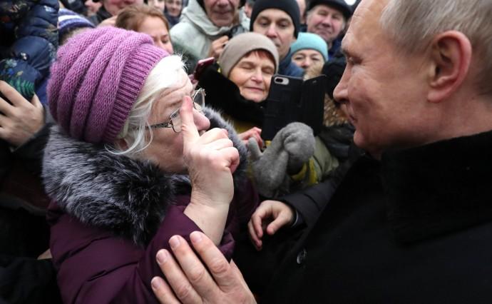 Общение Путина с жителями Санкт-Петербурга