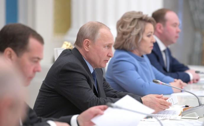 Владимир Путин на заседании Совета при Президенте по стратегическому развитию и национальным проектам