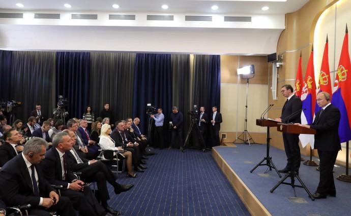 Пресс-конференции по итогам российско-сербских переговоров