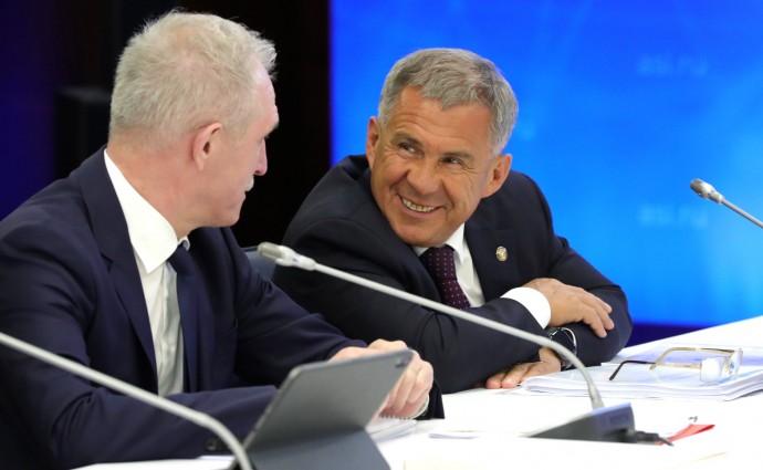Сергей Морозов и Рустам Минниханов