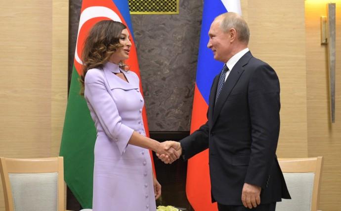 Путин приветствует Мехрибан Алиеву