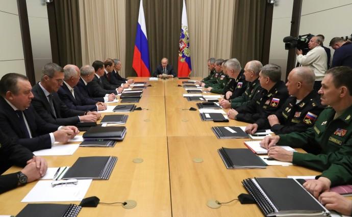 Совещание с руководством Министерства обороны и предприятий оборонно-промышленного комплекса