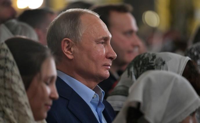 Путин в Рождественскую ночь