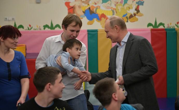 Во время посещения детского хосписа