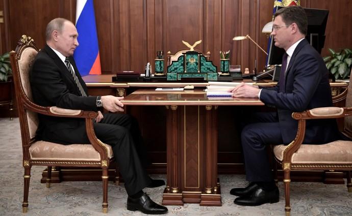 Путин на встрече Встреча с Министром энергетики
