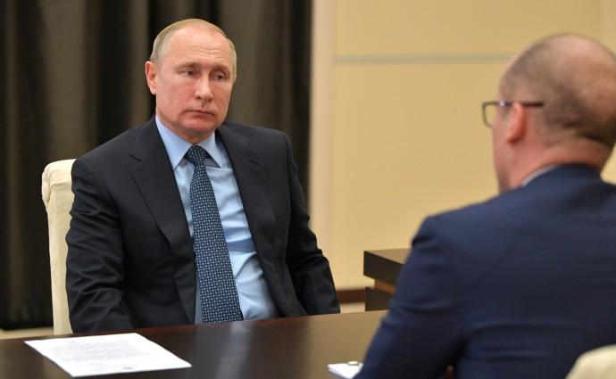 Рабочая встреча Путина и Бречалова