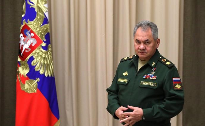 Министр обороны Сергей Шойгу перед началом совещания