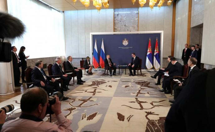Начало переговоров с Президентом Республики Сербии