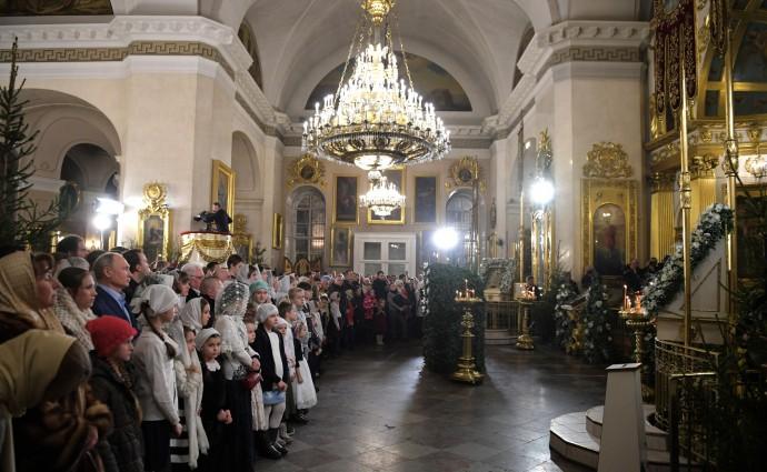 Рождественское богослужение в Спасо-Преображенском соборе