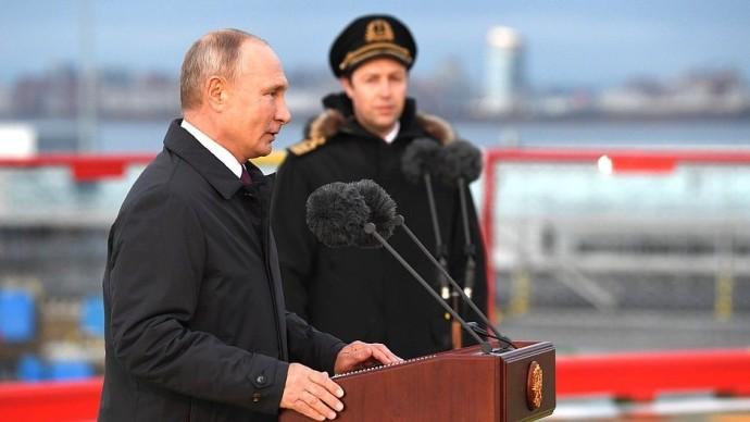 Видео с Владимиром Путиным наледоколе «Виктор Черномырдин» 3 ноября 2020 года